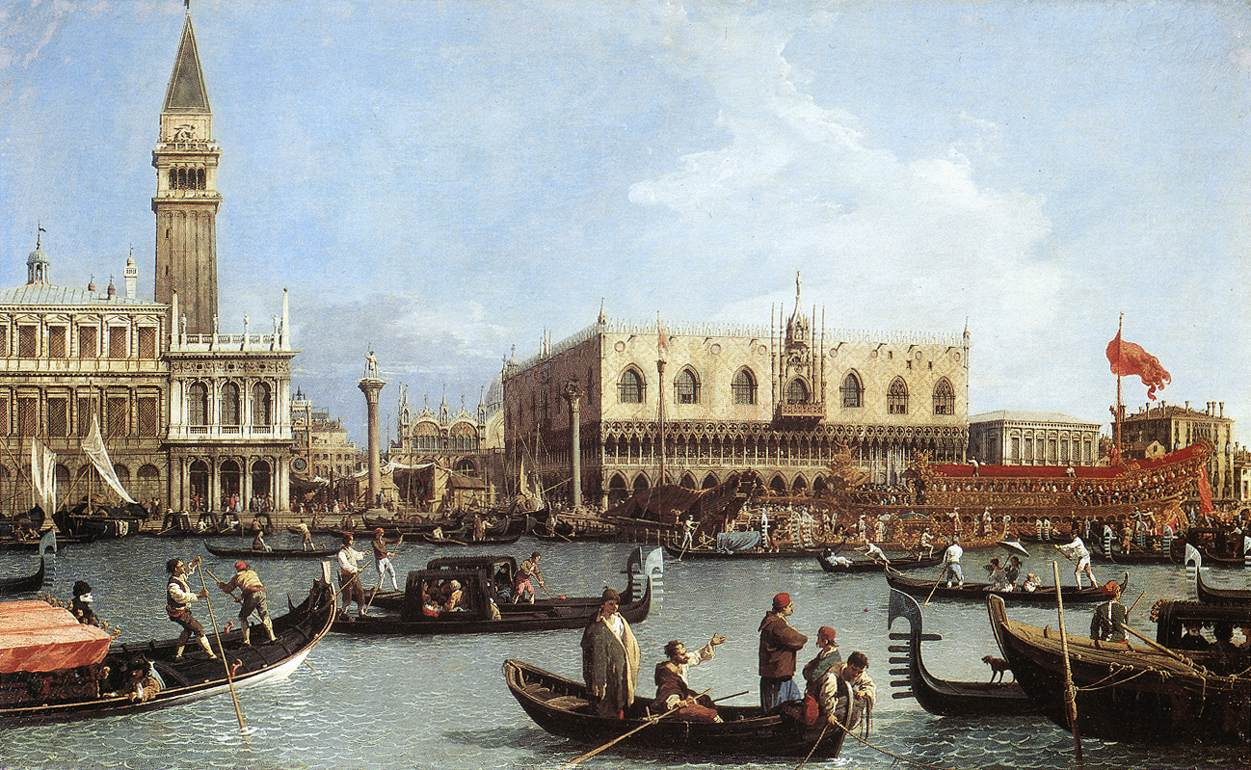 Canaletto, Return of the Bucintoro to the Molo on Ascension Day, c. 1732, Oil on canvas, 77 x 126 cm, Royal Collection, Windsor
